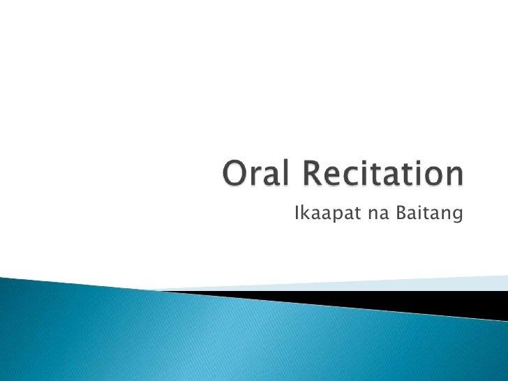 1st Quarter Oral Recitation Questions