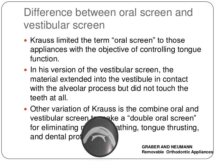Oral Screen Appliance 51