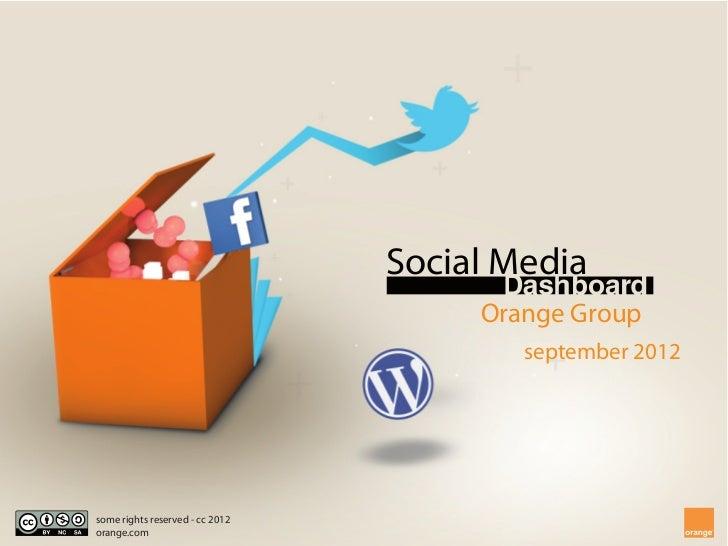 [EN] Orange - Social Media Dashboard - September 2012