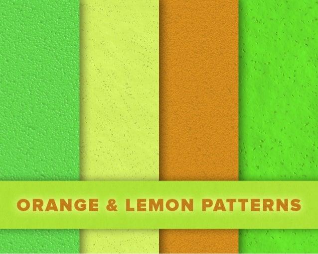 Free Orange and Lemon Patterns