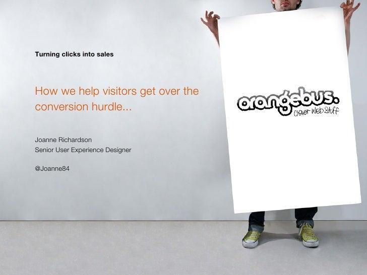 Increasing online conversion through persuasive design
