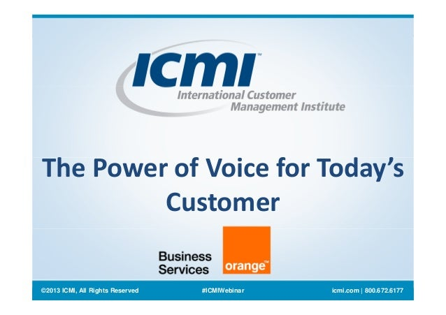 Orange business services power of voice webinar