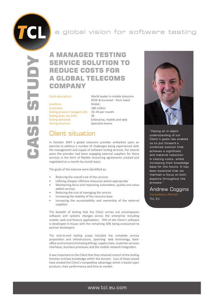 a global vision for software testing             A MANAGED TESTINGCASE STUDY             SERVICE SOLUTION TO             R...