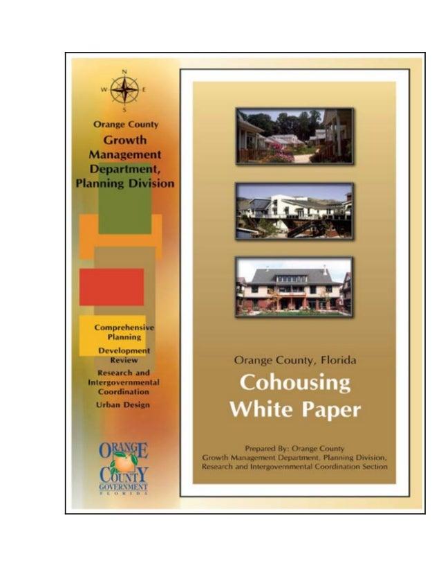 Orange county cohousing White Paper