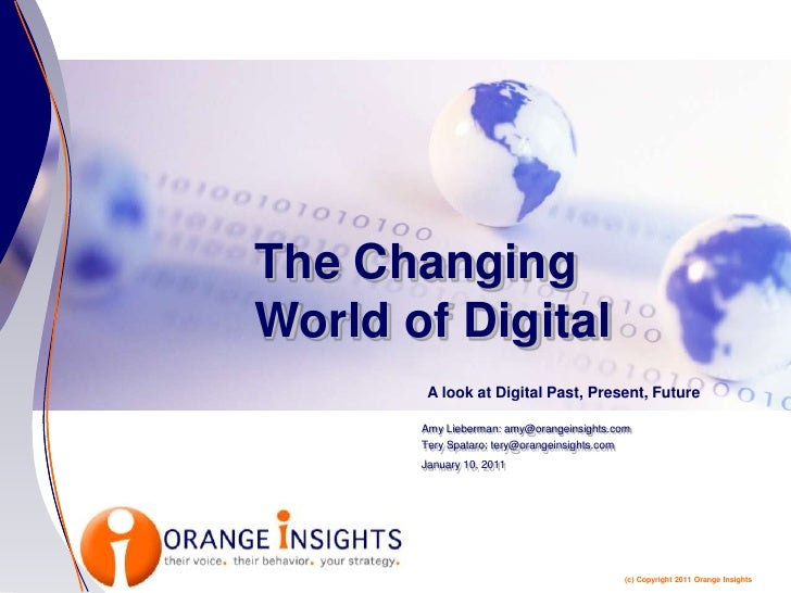 The Changing World of Digital<br />A look at Digital Past, Present, Future<br />Amy Lieberman: amy@orangeinsights.com<br /...