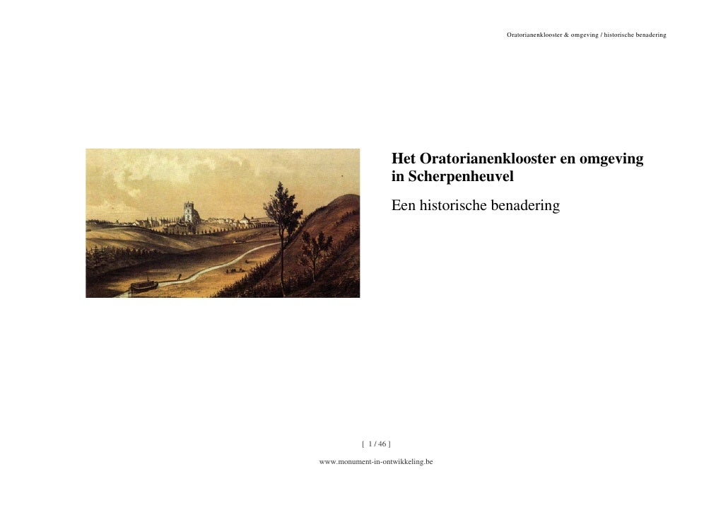 Oratorianenklooster & omgeving historische nota  def_