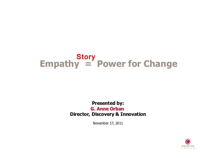 Empathy = Power for Change