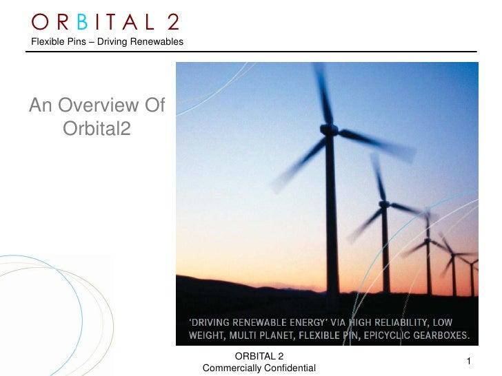 ORBITAL 2 Flexible Pins – Driving Renewables     An Overview Of    Orbital2                                               ...