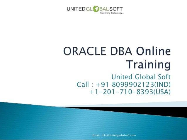 Orcale dba training