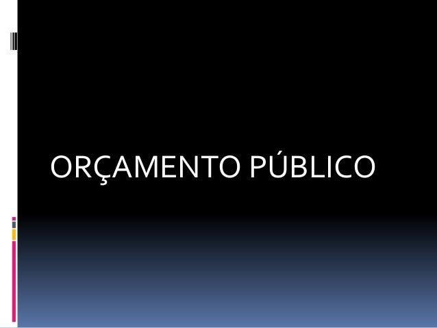 Orcamento publico
