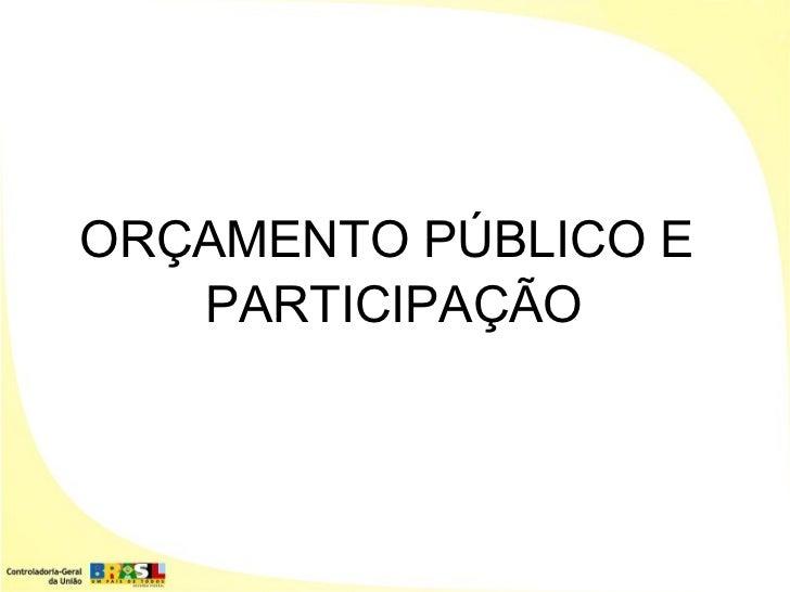 Orcamento publicoparticipacao