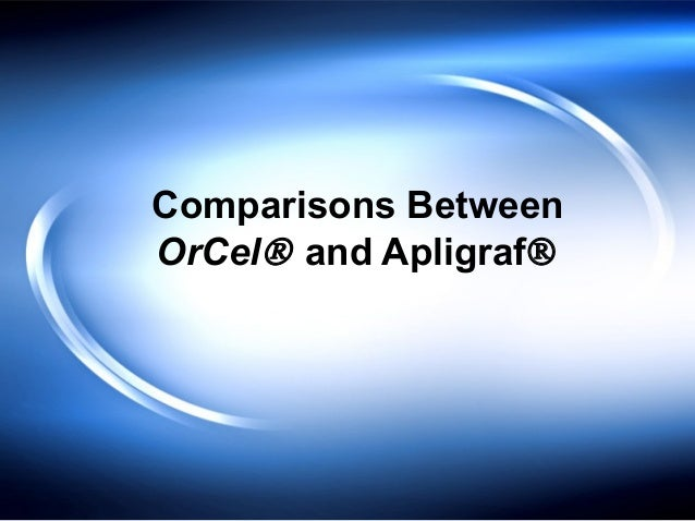 Comparisons Between OrCel® and Apligraf®