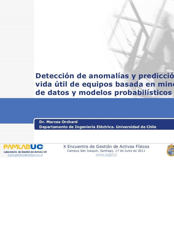 Detección de anomalías y predicción de                          vida útil de equipos basada en minería                    ...