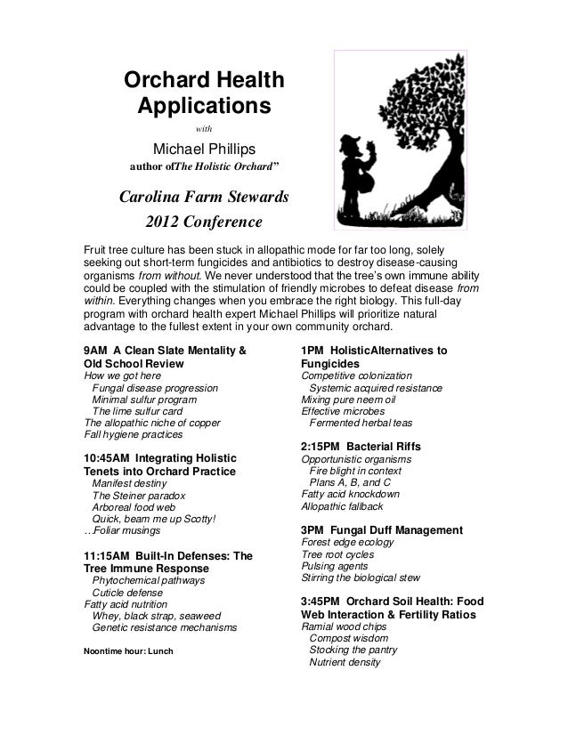 Orchard health applications