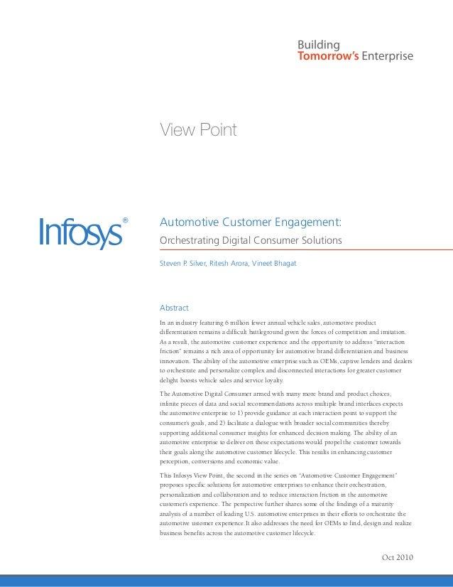 Infosys – Digital Customer Engagement Solutions