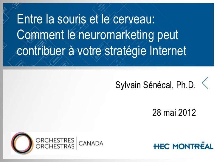 Entre la souris et le cerveau:Comment le neuromarketing peutcontribuer à votre stratégie Internet                       Sy...