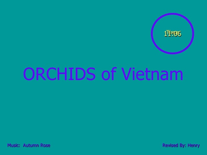 ORCHIDS of Vietnam Music:  Autumn Rose Revised By: Henry Time 11:06