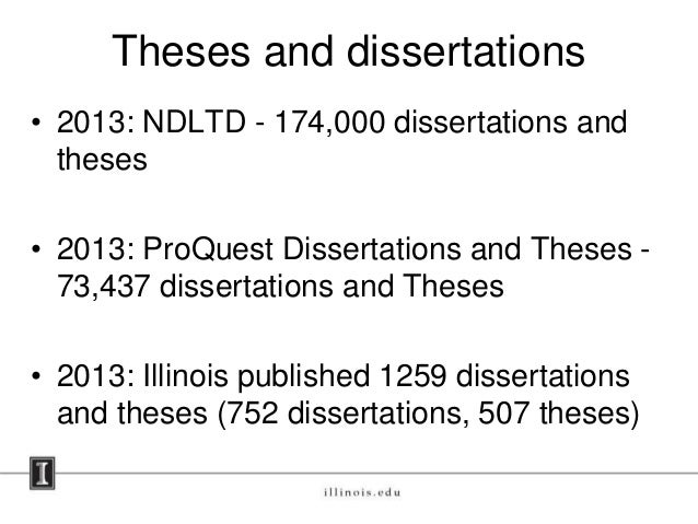 Dissertation and theses proquest