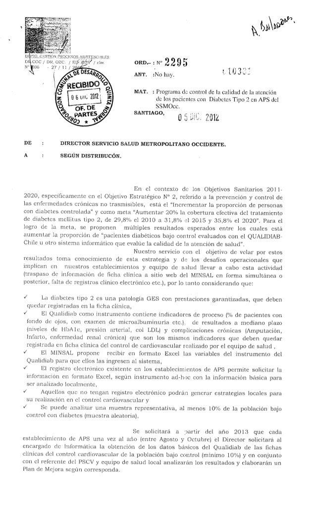 Ord. 2295  ssmo   prog. de control pacientes diabeticos tipo 2 aps