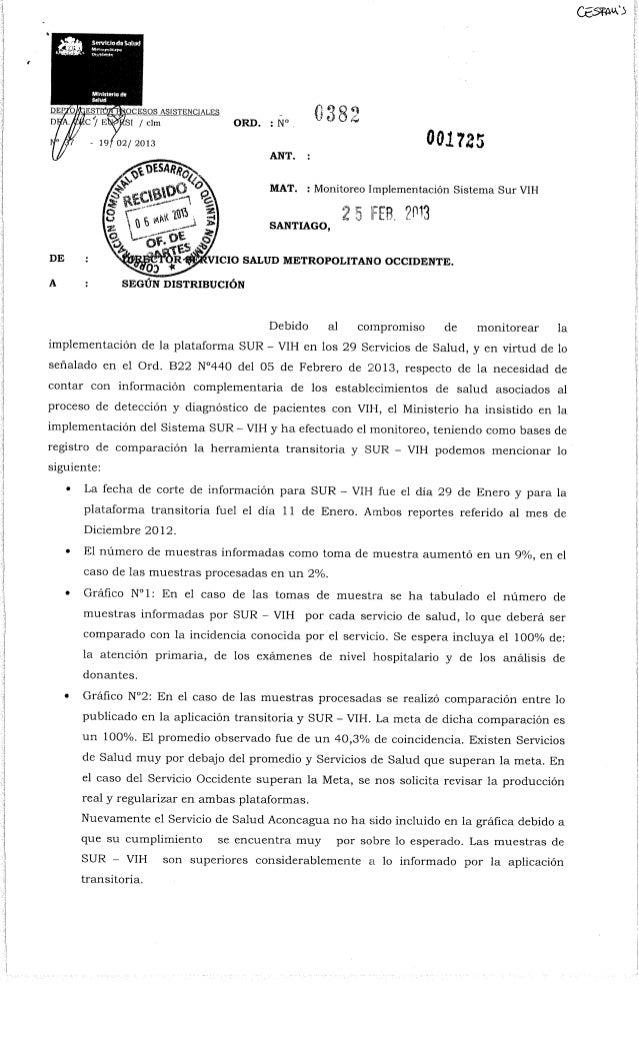 Ord. nº 0382 ssmo   monitoreo sistema sur vih