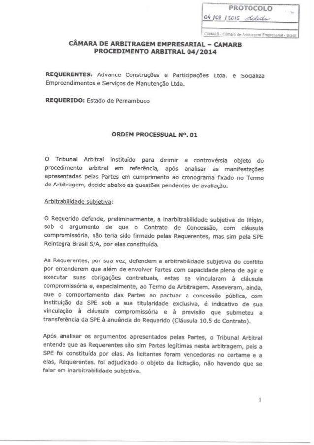 Ordem processual 01