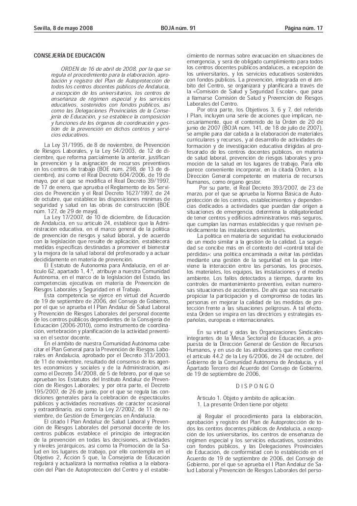 Orden 16 de abril de 2008