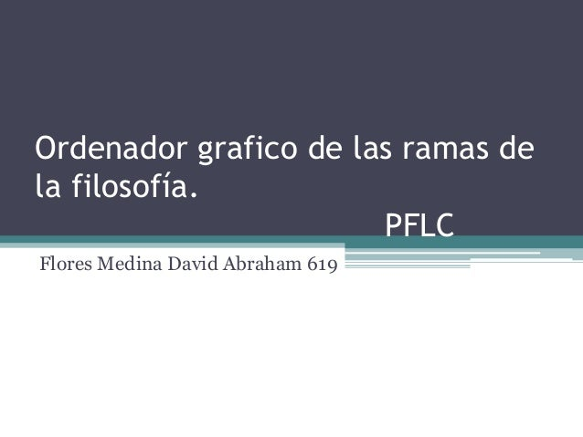 Ordenador grafico de las ramas dela filosofía.PFLCFlores Medina David Abraham 619