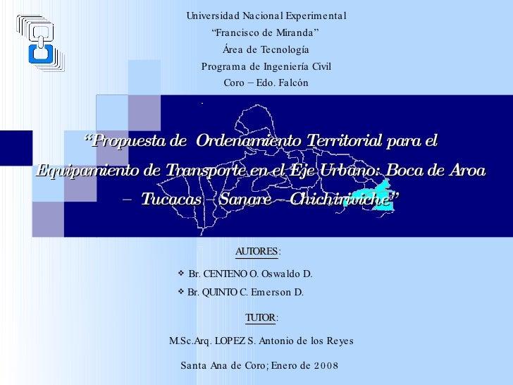 "<ul><li>AUTORES :   </li></ul><ul><li>Br. CENTENO O. Oswaldo D.  </li></ul><ul><li>Br. QUINTO C. Emerson D. </li></ul>"" Pr..."