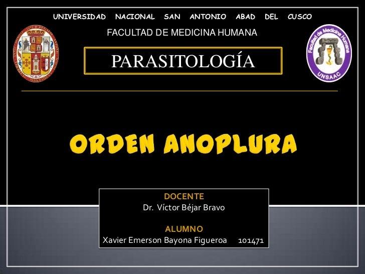 UNIVERSIDAD    NACIONAL   SAN   ANTONIO      ABAD     DEL   CUSCO              FACULTAD DE MEDICINA HUMANA              PA...