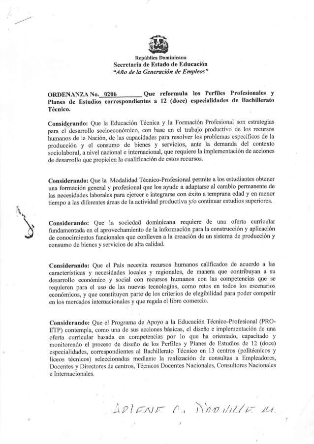 República Dominicana                                      Secretaría de Estado de Educrción                               ...