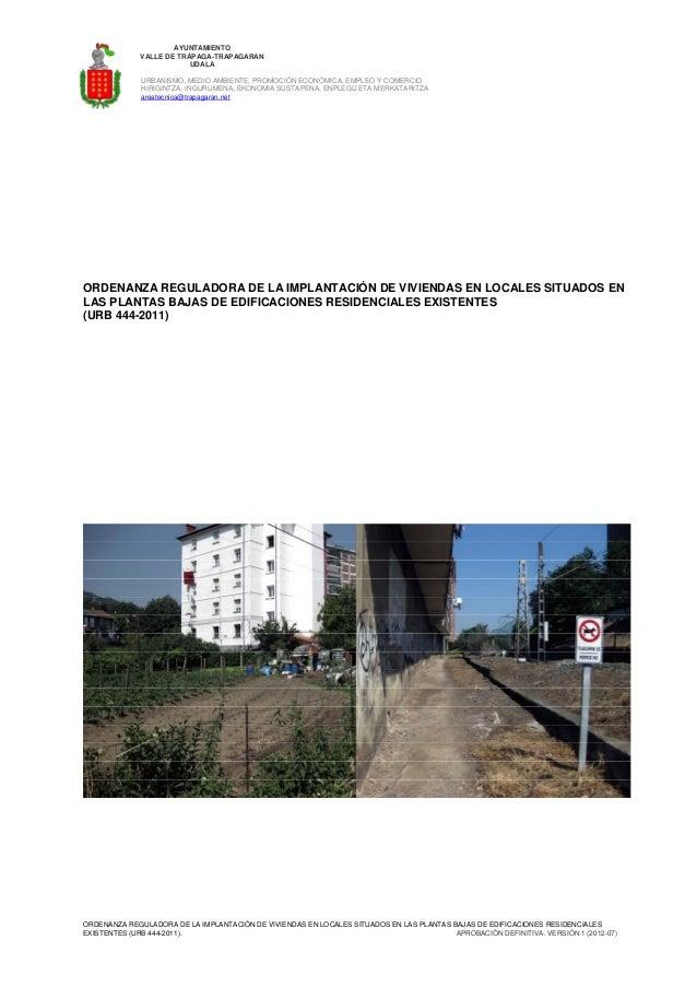 Ordenanza cambio de uso local a vivienda for Cambio de uso de oficina a vivienda