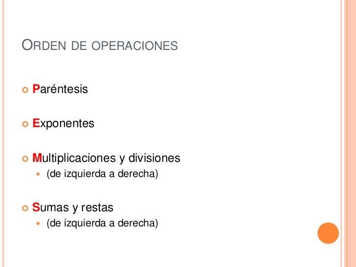 Ordenes de operaciones PEMDAS | Juntos Podemos