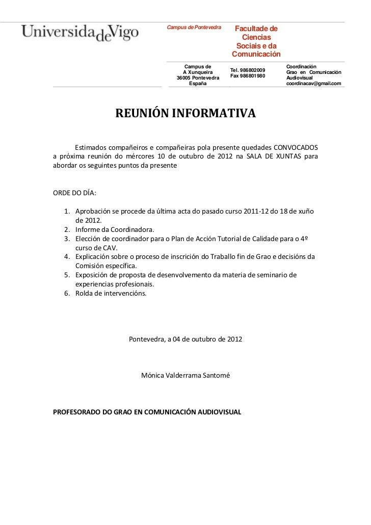 Campus de Pontevedra    Facultade de                                                              Ciencias                ...