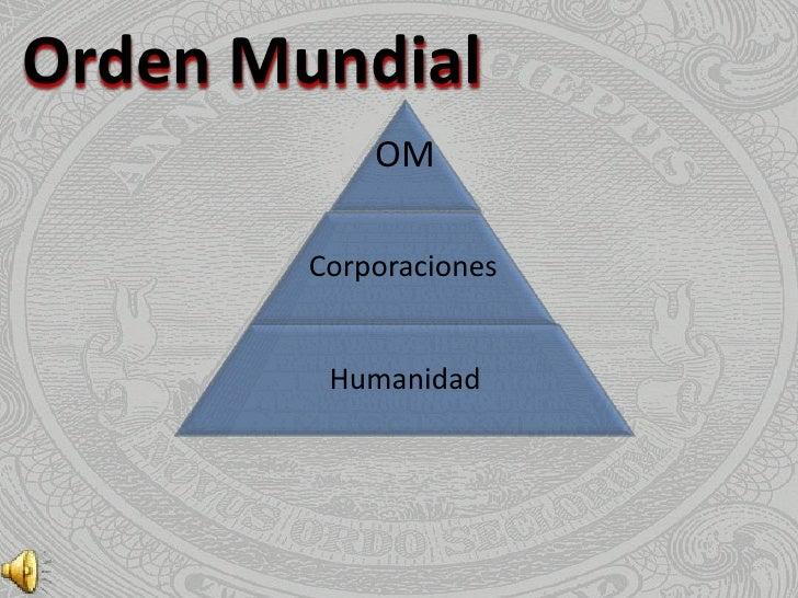 Orden Mundial            OM        Corporaciones         Humanidad