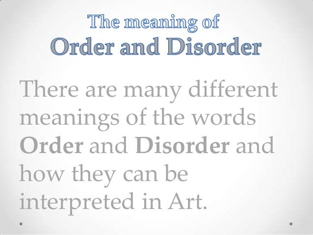 Entropy and art an essay on disorder and order
