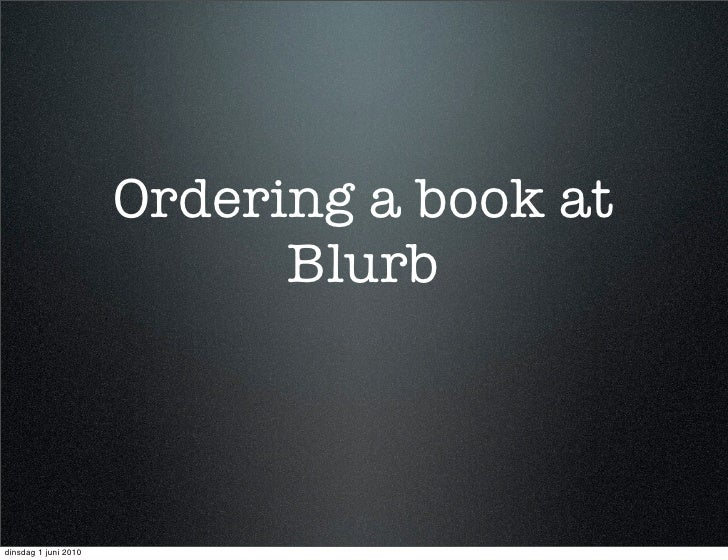 Order a book from Blurb