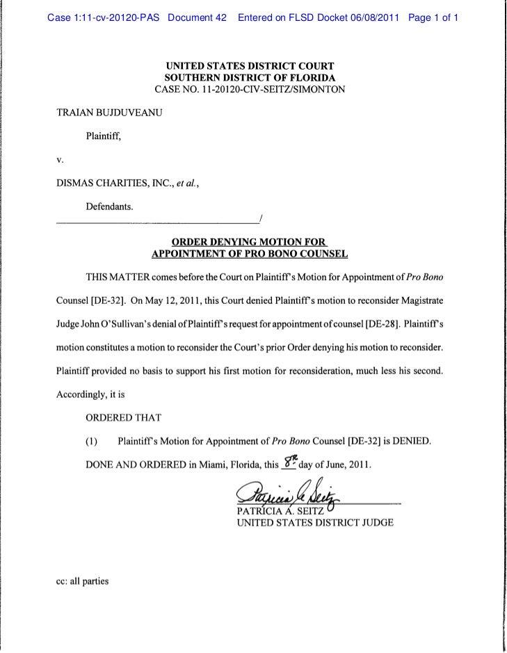 Case 1:11-cv-20120-PAS Document 42 Entered on FLSD Docket 06/08/2011 ...