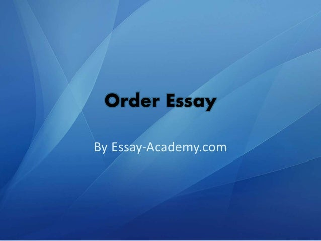 Order thesis paper