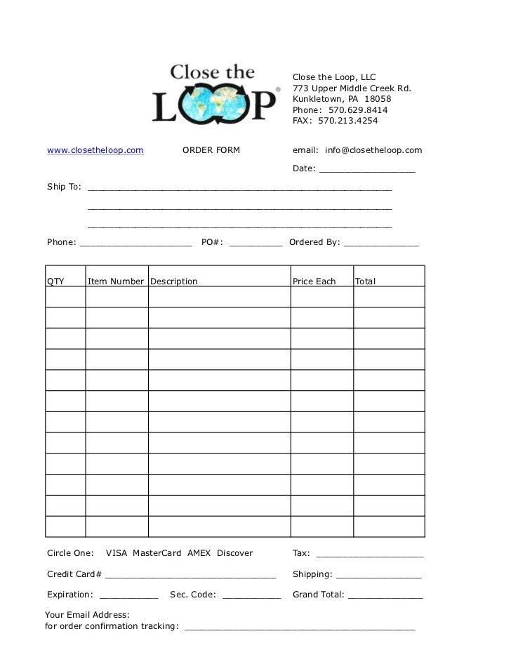 Order form 2012 sheet1