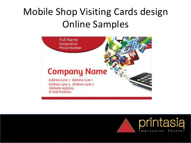 mobile visiting card design