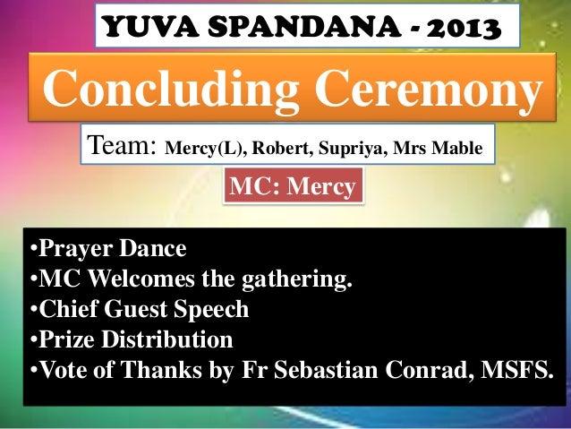 Concluding Ceremony