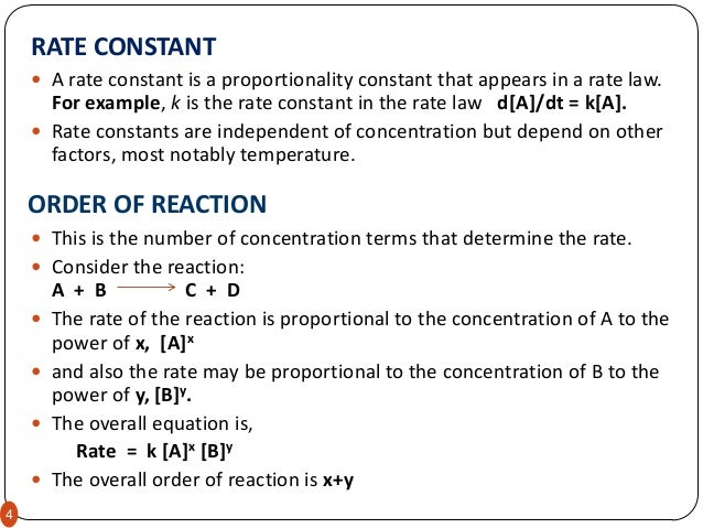 determination of the order of a reaction lab report Overview source: laboratory of dr neal abrams — suny college of environmental science and forestry all chemical reactions have a specific rate defining.