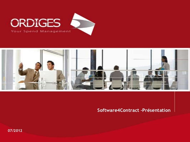 Software4Contract –Présentation07/2012