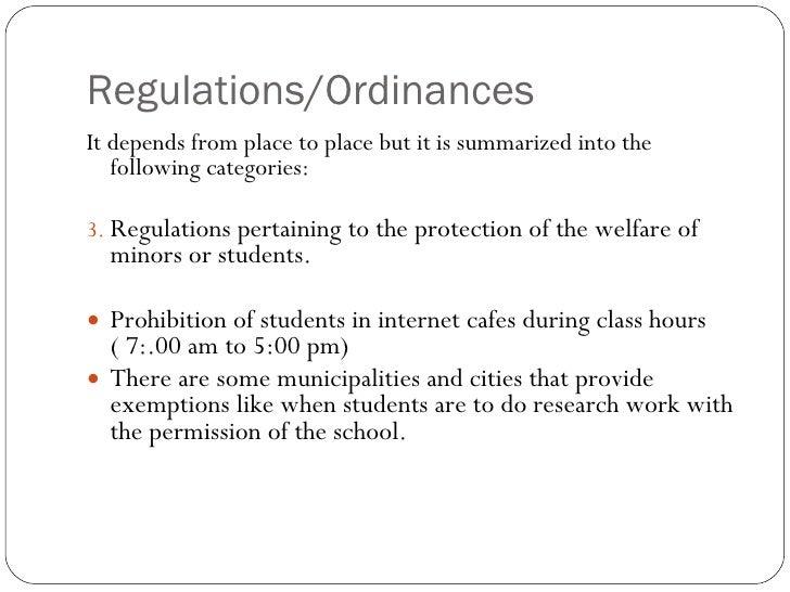 Regulations Pertaining