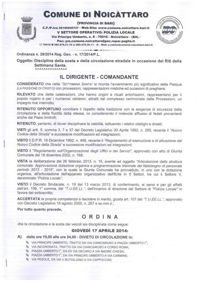 Ordinanza n. 292014 p.l. 225 9763