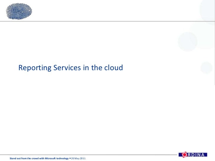 Reporting Services in the cloud<br />