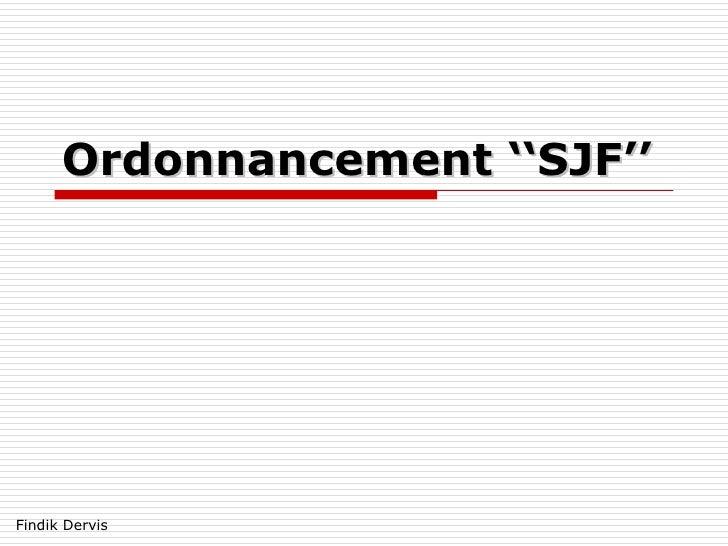 Ordonnancement SJF