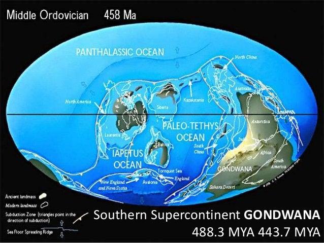 Southern Supercontinent GONDWANA 488.3 MYA 443.7 MYA