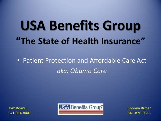 Oregon Affordable Care Act_McKenzie River Chamber Presentation