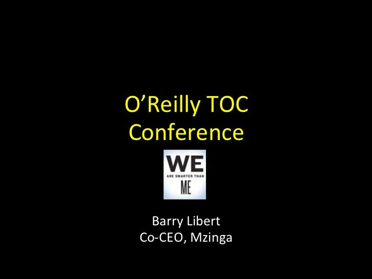 O'Reilly TOC:  A Social Approach to Publishing